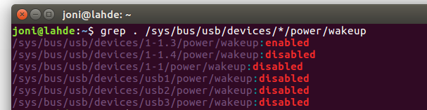 Enabling USB Keyboard and Mouse to Wake-up Ubuntu from
